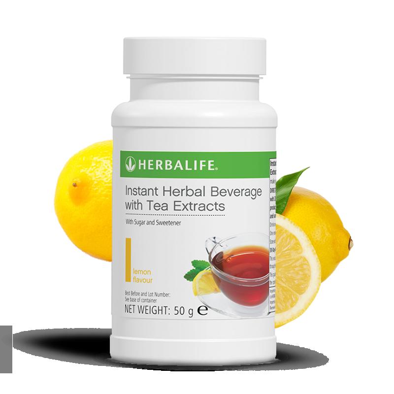 Bottle of Herbalife lemon flavour tea