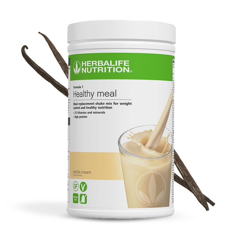Order a Large Herbalife formula 1 vanilla cream flavour shake