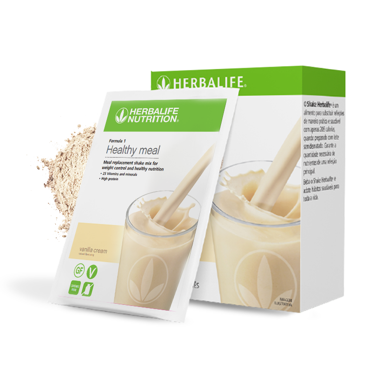 Sachet of Herbalife vanilla formula 1 meal replacement shake