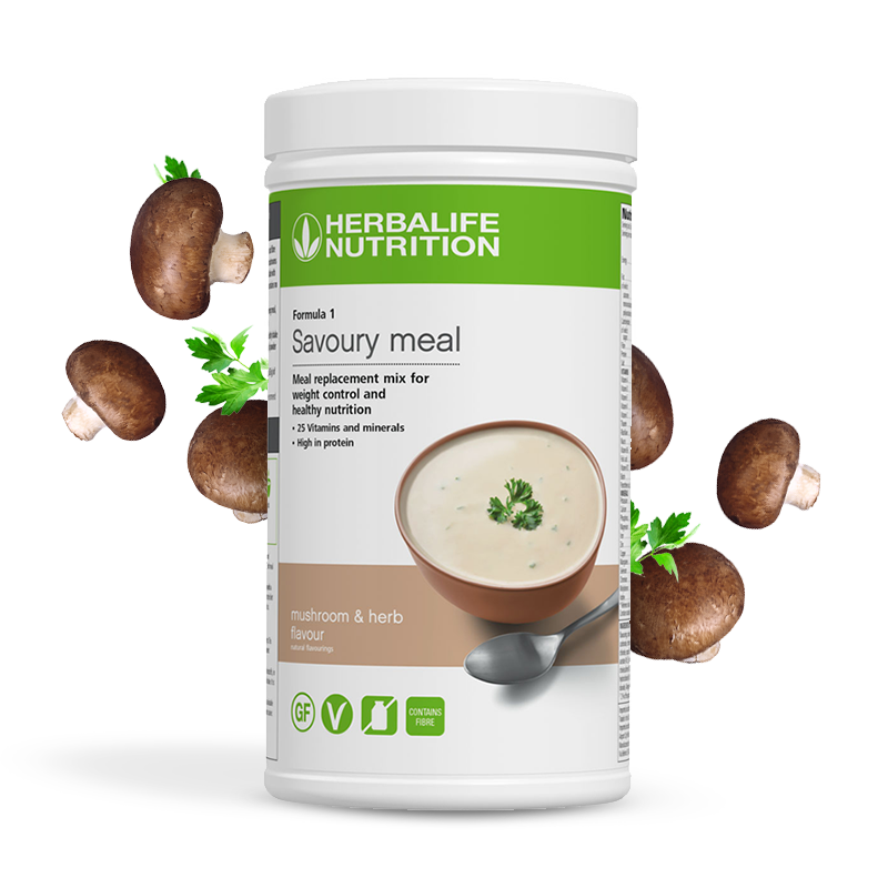 Product image of Herbalife savoury mean mushroom and herb flavour