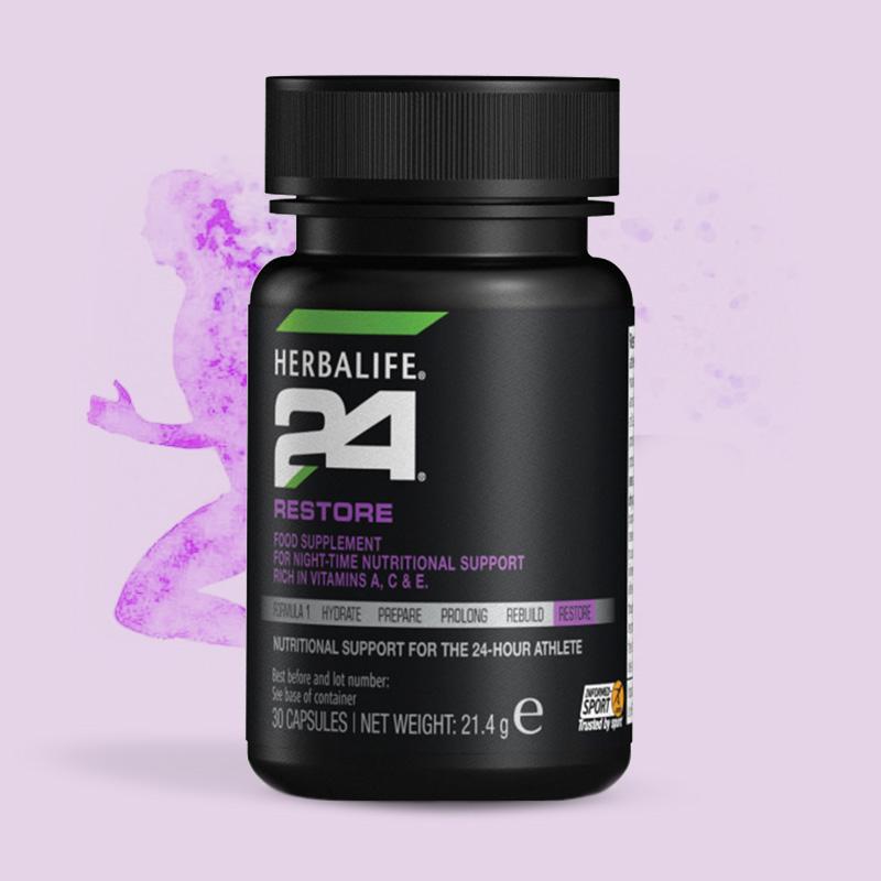Bottle of Herbalife 24 Restore tablets