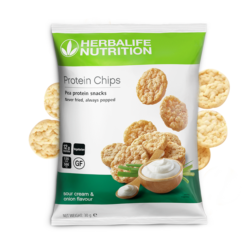 Bag of Herbalife sour cream and onion flavour Protein Chips