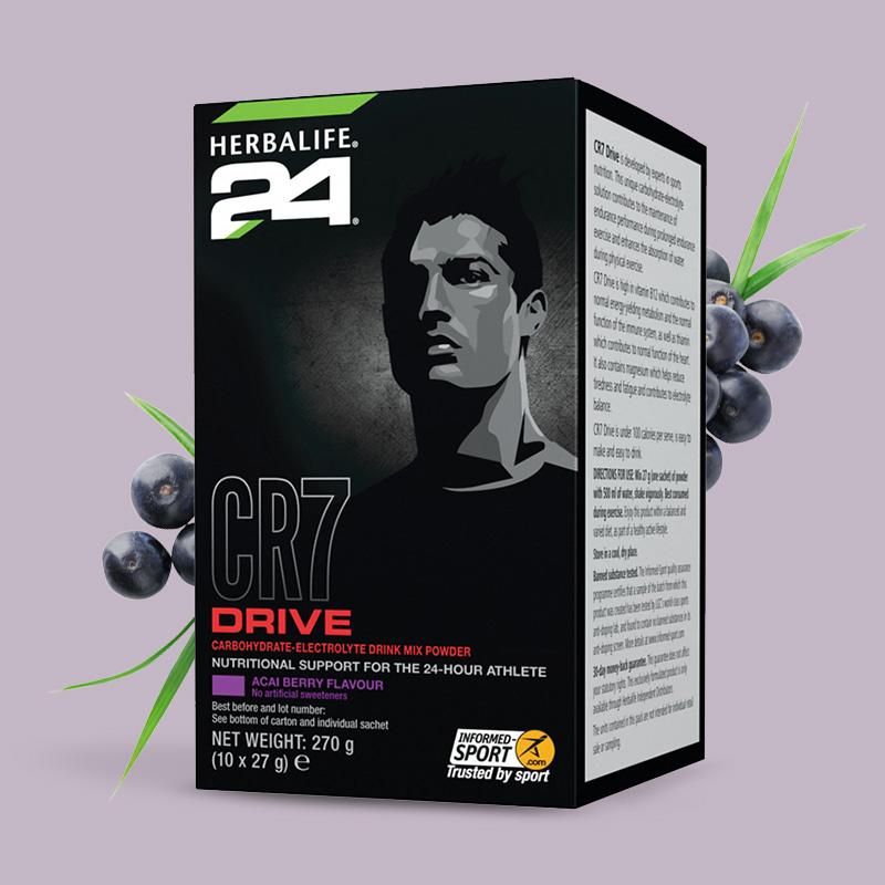 Box of Herbalife24 CR7 Drive sachets