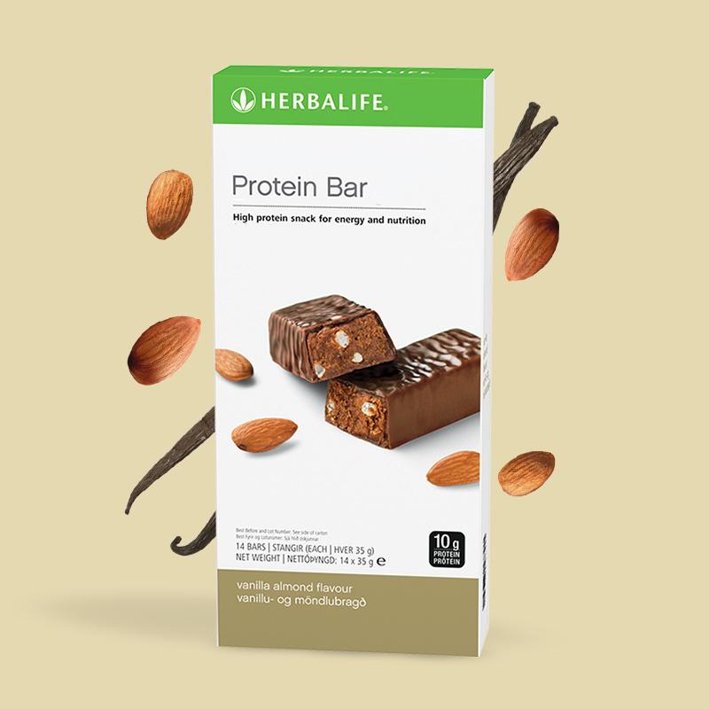 Herbalife vanilla almond flavour packaging