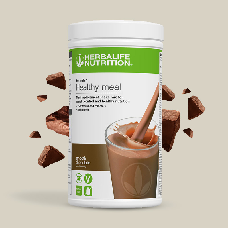 Product image of Herbalife formula 1 healthy meal smooth chocolate flavour shake