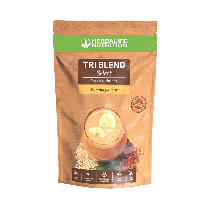 Pack of Banana flavour Tri Blend Protein Drink