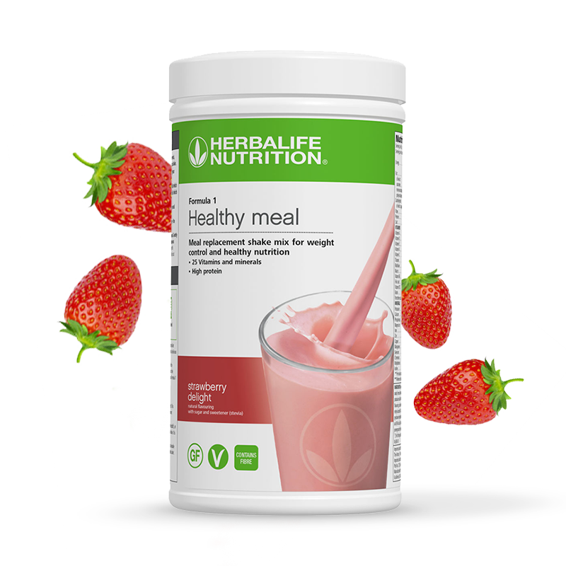 Product image of Herbalife formula 1 healthy meal strawberry delight flavour shake