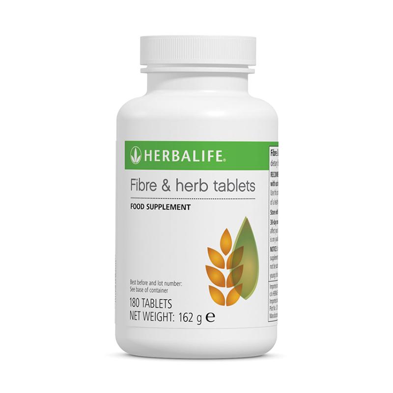 Bottle of Herbalife Fibre & Herb tablets