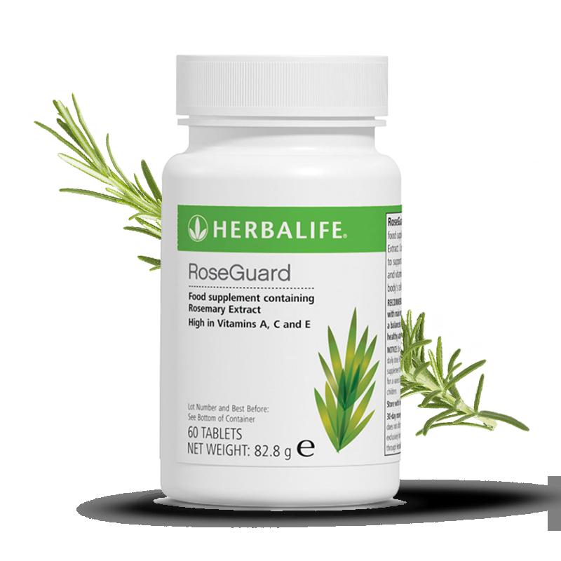 Bottle of Herbalife rose guard food supplement