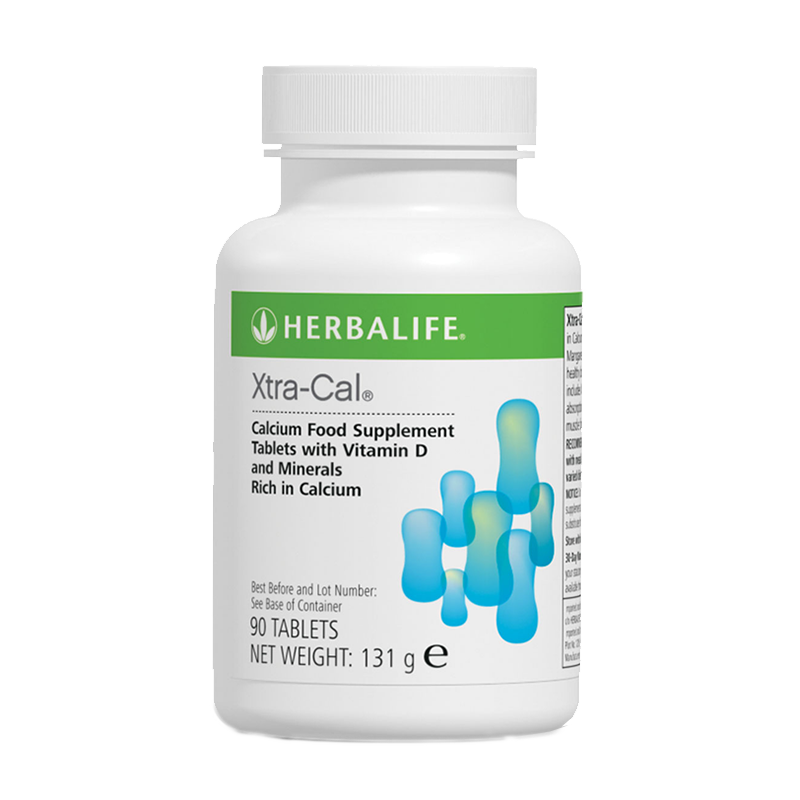 Bottle of Herbalife Xtra-Cal food suppliment