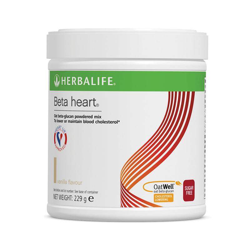 Tub of Herbalife Beta Heart vanilla flavour