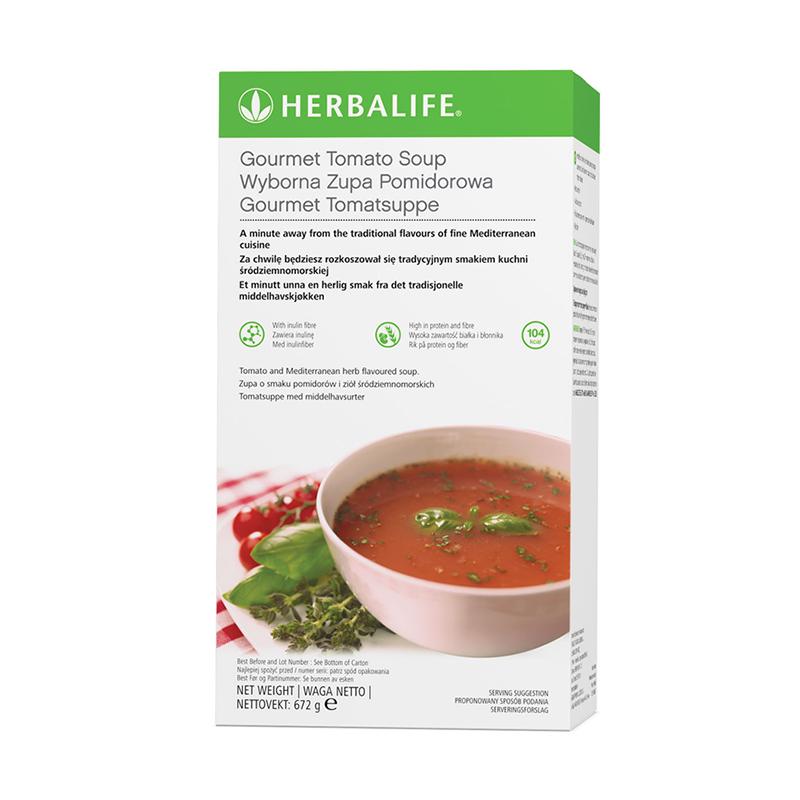 Box of Herbalife tomato soup
