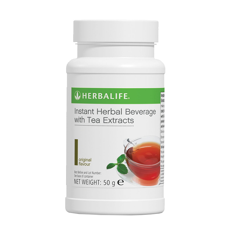 50g bottle of Herbalife Instant herbal beverage with tea extracts
