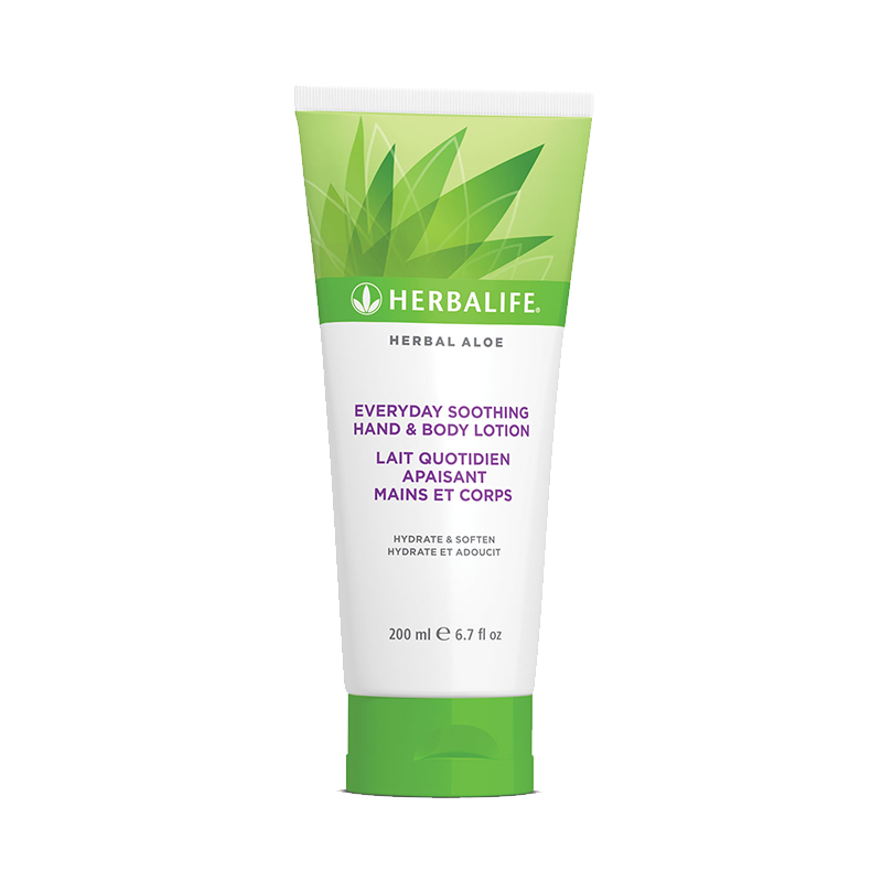 Bottle of Herbalife hand and body lotion