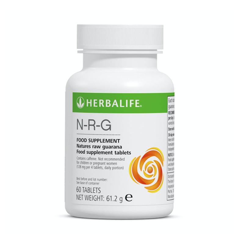 Bottle of Herbalife NRG supplement